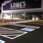 Line Striping Project at Lowes; Wallingford, CT