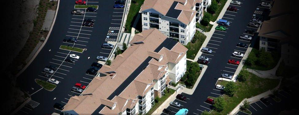 Sealcoating Aerial Photo, The Ledges, Groton CT