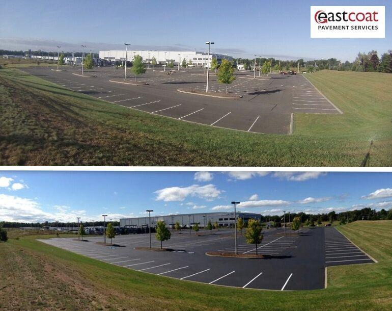 asphalt sealer before and after