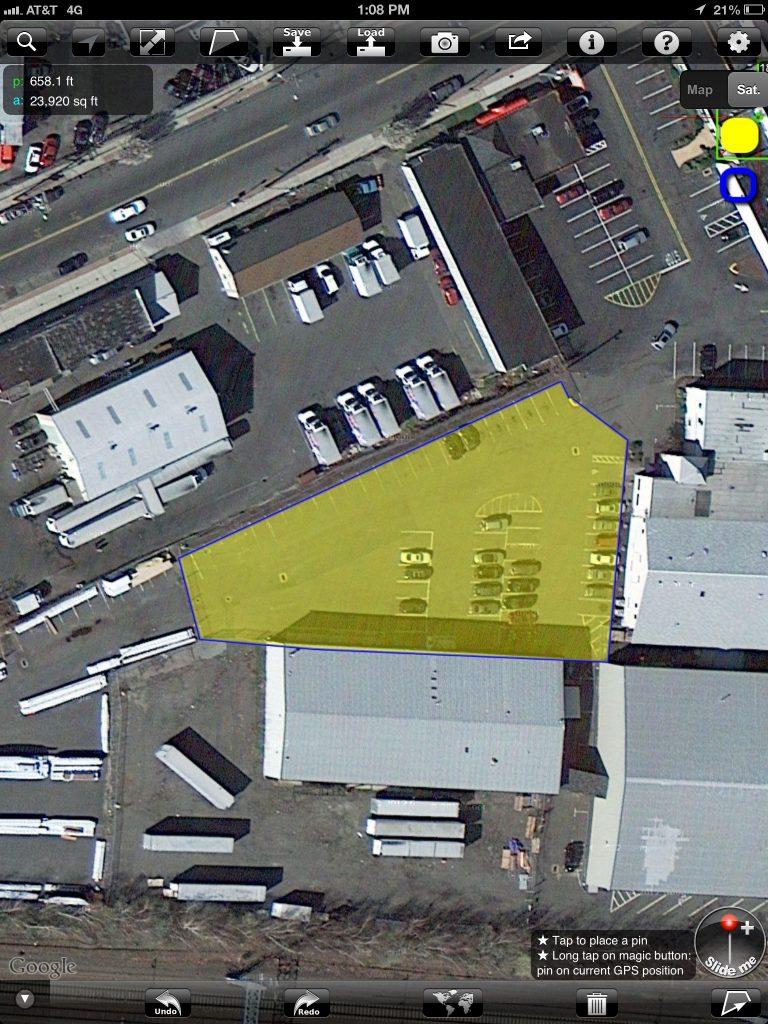 parking arrangements for a parking lot paint project