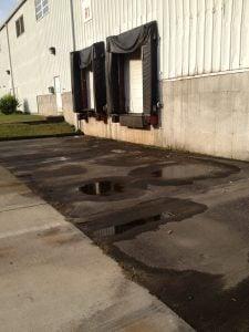 parking lot paving needs proper drainage