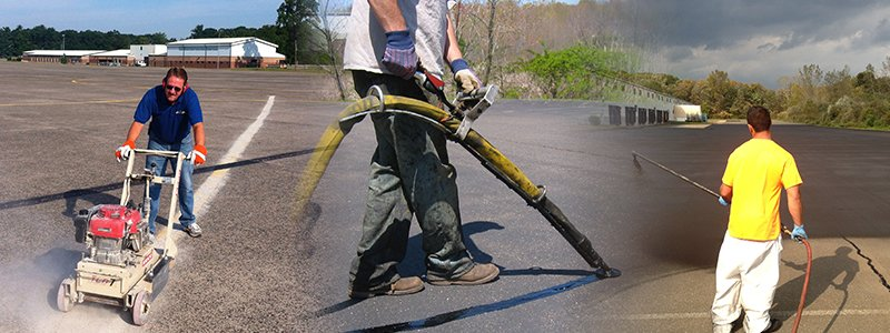 Prepare Asphalt For Winter: Crack Filling, Patching, Blacktop Sealer
