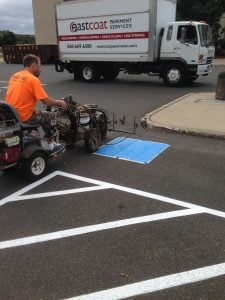 winter asphalt checklist, parking lot striping, asphalt sealer, asphalt repair