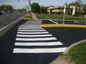 crosswalk parking lot striping