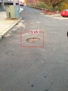pavement inspection pothole repair