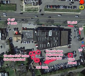 parking lot paving inspection, blacktop paving inspection