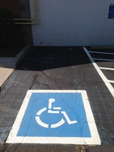 ada regulations, accessible signage and markings, ada violations