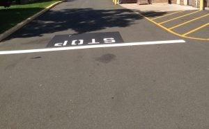 oil on asphalt surface