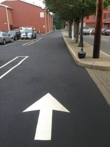 Parking lot line painting pavement markings