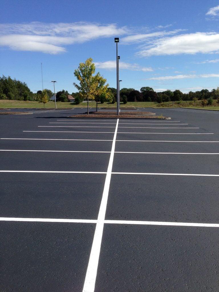 Parking lot line painting pavement markings, ada parking regulations
