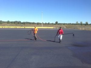 sealcoating, cracking filling, asphalt repair distress asphalt
