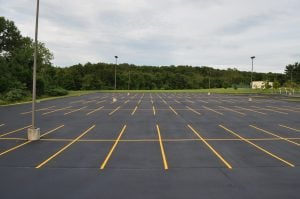 proper parking lot design for spaces