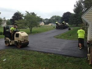 gravel driveway vs asphalt paved driveway