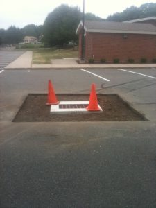 asphalt fall repair drainage catch basin