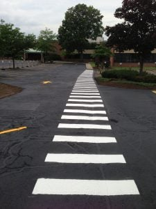asphalt fall repair line striping