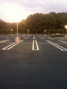 parking lot painting in cold weather