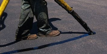 repairing cracked pavement in winter