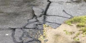 paving asphalt potholes cracking